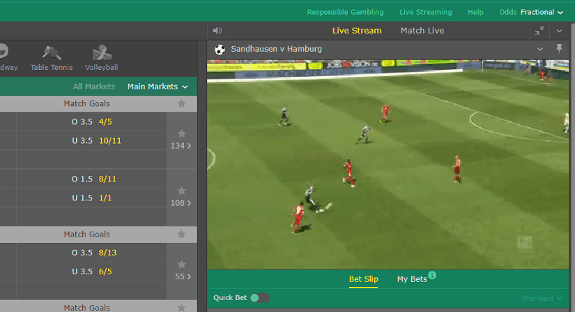 Live betting Streaming